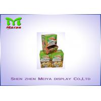 Cheap Recyclable F flute cardboard retail displays for snack , display cardboard boxes for sale