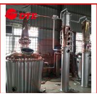 Best Commercial Distilling Equipment Pear Head , Copper Stills For Moonshine wholesale