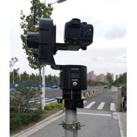 China 30' telescopic pole endzone camera system hard 6063 2mm thickness tube video tower system remote pan tilt head 7.2V on sale