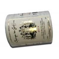 Best Eco Friendly Embossing Labels In Roll Wine Bottle Custom Embossed Stickers wholesale