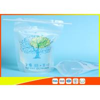 Best Zip Lock Pouch Bags Stand Up Ziplock Bags , Printed Juice Pouches With Hanging Holes wholesale