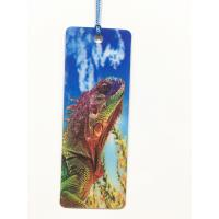 Best Cartoon 3D Lenticular Bookmark , Custom Bookmark With Tassel Animal Style wholesale