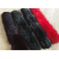 Best Dyed Genuine Raccoon Black Real Fur Collar Real Warm For Men Jacket / Coat wholesale