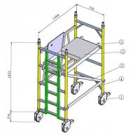 China Painting Indoor, Outdoor Anti - Skid Aluminium Mobile Scaffold / Scaffold Towers on sale