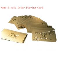 Best 24K Pure Gold foil Playing Cards Poker for Birthday gifts 57mm * 87mm wholesale