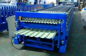 Best Trapezoidal Sheet 15m Per Min Double Layer Roll Forming Machine wholesale
