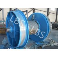Best Fully Machined Wire Rope Winch Drum With Lebus Sleeves / Oilfield Drums wholesale