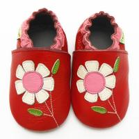 Best Moustache leather baby moccasins soft sole baby shoes for girls boys wholesale