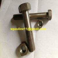 ss321 stainless steel hex head bolts machine bolt and nuts for sale