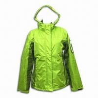 Best Women's Outdoor Coat, Made of 100% Polyester in Light Green, Fashionable Style wholesale