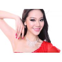 China Shinning White Diamond Belly Dance Accessories Sets Pure Style For Lady Dancers on sale