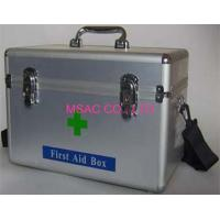 Best Metal Emergency First Aid Kit Boxes With Straps For Transport , Silver wholesale