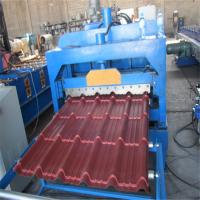 Buy cheap Customized color low noice glaze tile metal roof roll forming machine from wholesalers