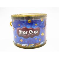 Best 4g Star Chocolate Cup In PVC Jar Sweety Chocolate With Crispy Cookie wholesale