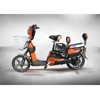 Best High Power Brushless Electric Moped Bike 350W Orange Colour With Front Rear Drum wholesale
