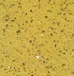 Best Crystal Yellow Polished artificial quartz stone kitchen top / quartz floor tile wholesale