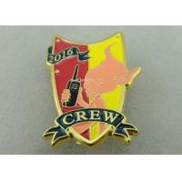 Best Gold Plating 3D Metal Soft Enamel Pin / Police Military Army Pin Badges wholesale