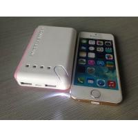 Cheap Square White 6600mah Portable USB Power Bank For Mobile Charging With LED for sale