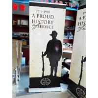 Cheap Aluminum Pull Up Retractable Display Banners Digital Printing for sale