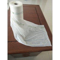 China Grocery Vegetables Biodegradable 200mic Poly Bags Roll on sale