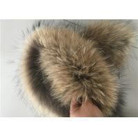 Best Windproof Real Fur Coat Collar , Genuine Toddler Fur Collar With Satin Lining wholesale