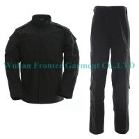 China Black Military Gear Security Guard Army Uniform Supplies  Quality Choice on sale