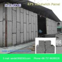 China Houses prefabricated homes Anti-quake Lightweight Eps Wall Panel 2440*610*75mm on sale