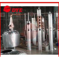 Best 500Gal Stainless Steel / Copper Industrial Distillation Equipment With Bubble Cap wholesale
