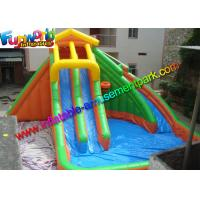 China Large Outdoor Inflatable Water Slides Pool With PLATO 0.55mm PVC Tarpaulin on sale