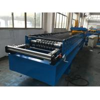 Best 7.5kw Corrugated Sheet Metal Roll Forming Machine With Electrical Decoiler wholesale