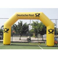 Best 8.4m Commercial Full Printed PVC tarpaulin yellow color advertising inflatable archway for brand promotion wholesale