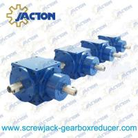 Best JTV120 Spiral Bevel Gears Right Angle Gearbox 25MM Drive Shaft Transmission Ratio 1:1, 2:1 wholesale