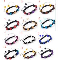 Best Customized Colorful 10mm Rhinestone Crystal Beades Shamballa Bracelets wholesale