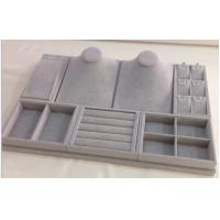 Buy cheap Durable Jewelry Showcase Display Sets Grey Velvet Tray With 3 Years Warranty OEM from wholesalers