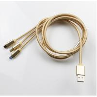 China Iphone Braided 3 in 1 Lighning USB Cable ( Type C ,Lighning ,Micro ) on sale