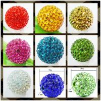Best OEM 8mm Green / Red / Gold / White / Purple / Blue / Roseate Crystal Pave Ball Beads wholesale
