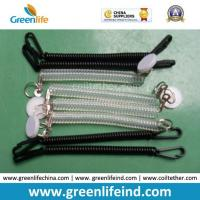 Best Chinese Factory Wholesale Black Clear Spring Coiled Keychain Leash wholesale