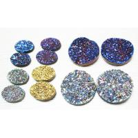 Cheap Blue / Gold / Silver Plating Color Round Druzy Agate Jewelry 10mm For Bracelet for sale