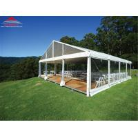 China Fire Retardant 20 X 20M Wedding Party Tent With Glass Wall / Colourful Cover on sale