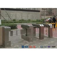 Cheap Bar Code Waist Height Turnstiles Stainless Steel 25~30 Persons / Min Passing Speed for sale