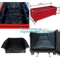 Best Export Europe High Quality Waterproof Dumpster Container liners,6 mil White Open Top Drawstring Dumpster Container Liner wholesale