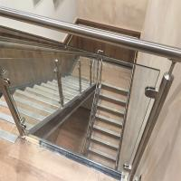 Cheap Price Of Modern Stair Stainless Steel Balcony Glass Terrace Railing Design for sale