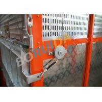 Best Q235 / Q345 Steel Car Cage Hoists For Building, 380V 50Hz Or 60Hz Power wholesale