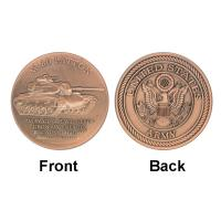 Best Patton ARMY M - 60 Tank Commemorative Coins  Red Copper For Gifts wholesale