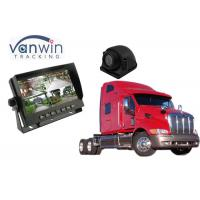 Buy cheap 7 inch Car Truck Quad Split Monitor Built-in DVR Video Recording 4 Channels Quad Display from wholesalers