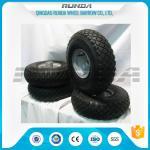 Best Small Size Pneumatic Rubber Wheels , Pneumatic Swivel Caster Wheels136KG In 2PR wholesale