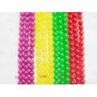 Best Semi Precious Gemstone Beads, Red / Green / Yellow / Purple Dyed Jade Bead wholesale