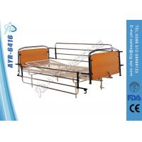 China Full Length Stainless Steel Side Rails Nursing Home Beds With Mesh Bed Frame on sale