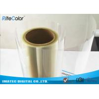 Cheap One-Side Coated Inkjet Film Roll , Eco Solvent Inkjet Transparency Film for sale