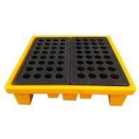Best High Density Poly 4 Drum Spill Containment Pallets Leak Proof For Drum Tank wholesale